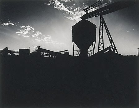 An image of Silhouette of No.2 wash plant at Lemington Colliery