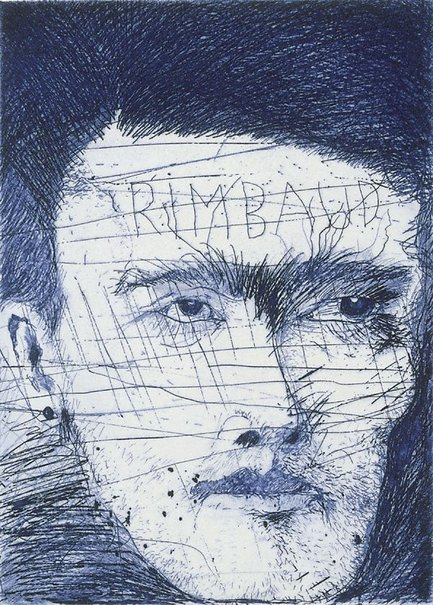 An image of Rimbaud by Jim Dine
