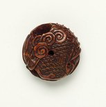 Alternate image of 'Manju' netsuke of a dragon by