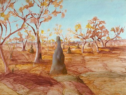 An image of Ant hills, Australia by Sidney Nolan