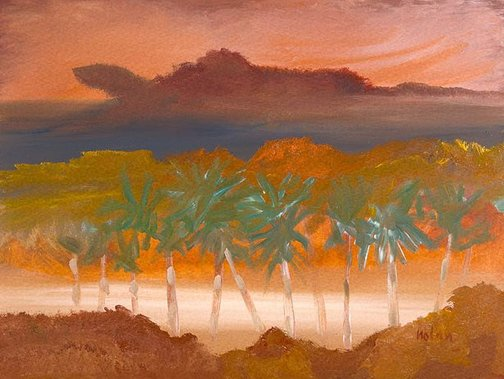 An image of Broome sunset WA by Sidney Nolan
