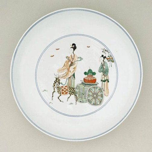 An image of Large dish by Jingdezhen ware