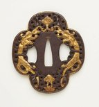 Alternate image of tsuba (with pierced quatrefoil design) by