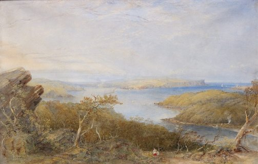 An image of North Head from above Balmoral, Sydney Harbour by Conrad Martens