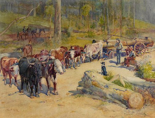 An image of The bullock team by Frank Mahony