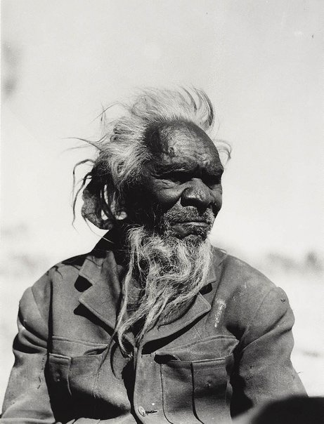 An image of Albert Namatjira's father Jonathan Namatjira by Axel Poignant