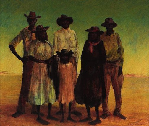 An image of Group of Aborigines by Russell Drysdale