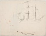 Alternate image of recto: Ball's Head, Sydney Harbour verso: A sketch of the Sobraon by Lloyd Rees