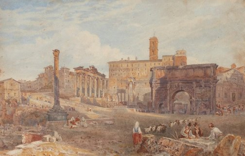 An image of The Forum, Rome by Arthur Glennie