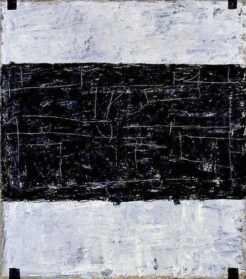 An image of Untitled (black-grey) by Paul Partos