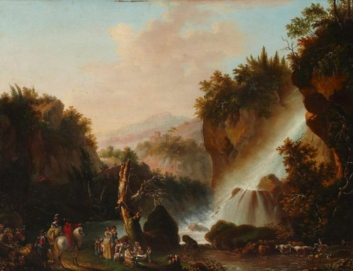 An image of Old falls of Tivoli by Unknown, after Galliero Ilffizi, after Jean Tierce