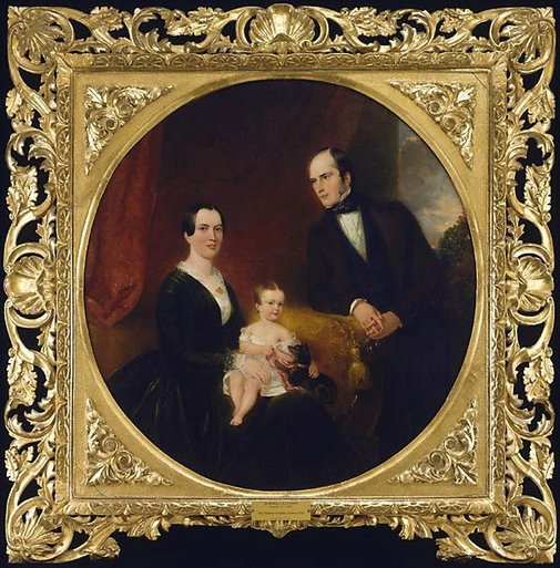 An image of The Dickinson family by Marshall Claxton