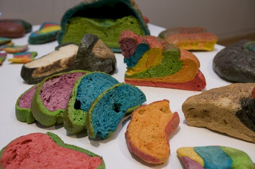 An image of Coloured bread by Miralda