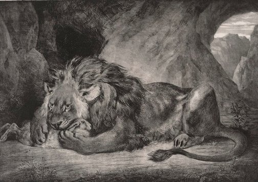 An image of Lion of Atlas by Eugène Delacroix