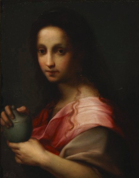 An image of Magdalene with alabaster box of ointment by Giovanni Brilli, after Andrea del Sarto