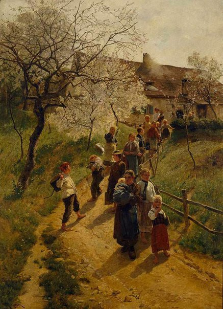 An image of A spring day by Friedrich Kallmorgen