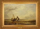 Alternate image of Mont St Michel-Shrimpers by Edward William Cooke