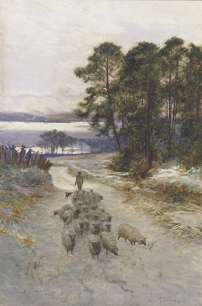 An image of A glimpse of the Clyde, Helensburgh by Sir Alfred East