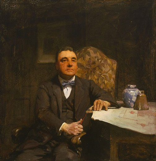 Archibald prize-winning portrait of H. Desbrowe Annear by W B McInnes