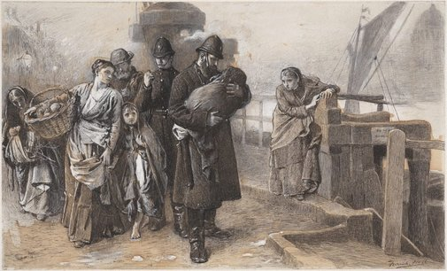 An image of Deserted - the foundling by Frank Holl