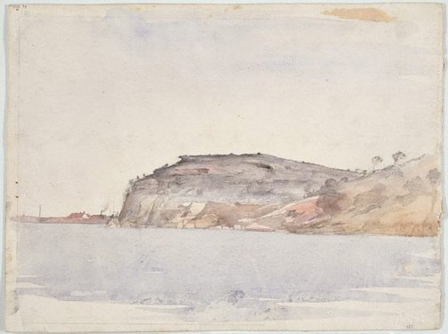 An image of recto: Balls Head verso: Study for 'Sydney skyline from McMahon's Point' by Lloyd Rees