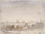 Alternate image of recto: Balls Head verso: Study for 'Sydney skyline from McMahon's Point' by Lloyd Rees