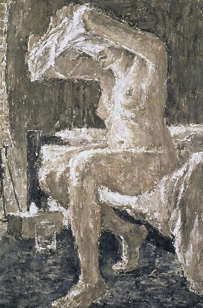 An image of Seated nude by Nicholas Harding