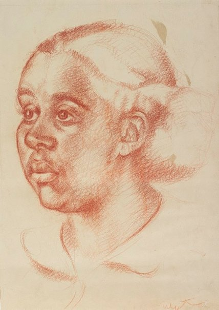 An image of (Portrait of a young woman) by Douglas Watson
