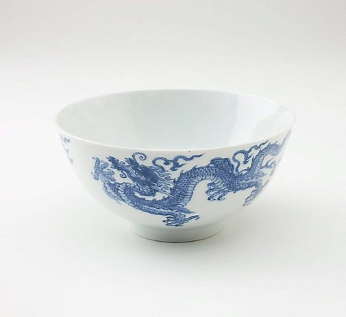 An image of Bowl depicting two dragons and two flaming pearls by Jingdezhen ware