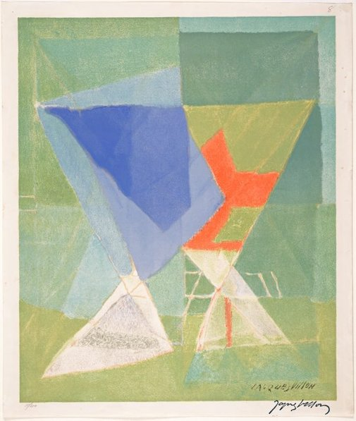 An image of Untitled (abstract) by Jacques Villon
