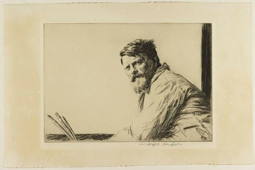 An image of Frank Brangwyn by Joseph Simpson