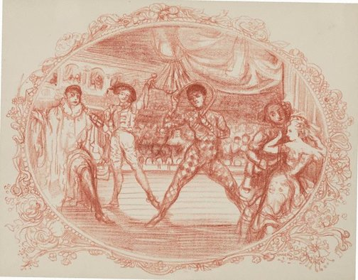 An image of Harlequin s'amuse by Charles Conder