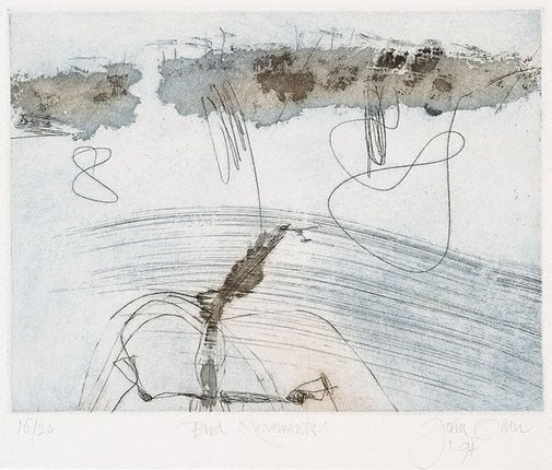 An image of Bird movements by John Olsen
