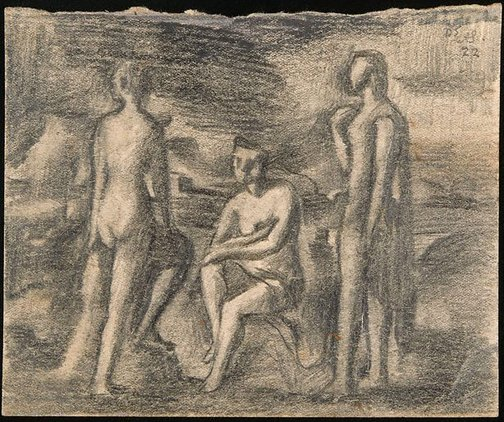 An image of Three figures by Jean Bellette
