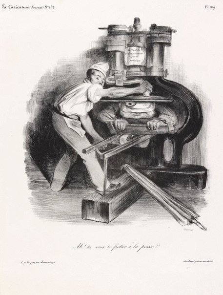 An image of Ah! So you want to meddle with the press! by Honoré Daumier