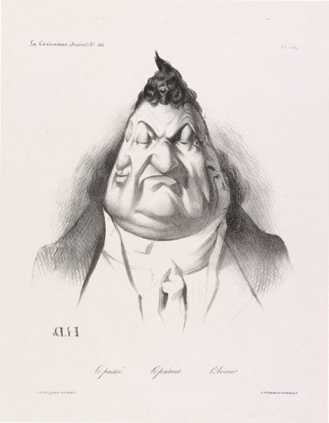 An image of The past, the present, the future by Honoré Daumier