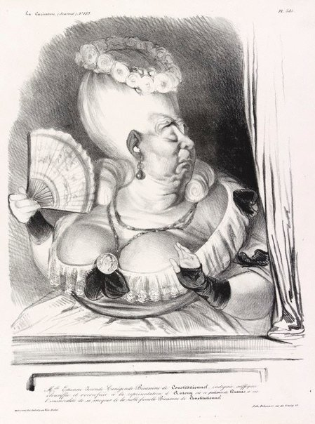 An image of Miss Etienne-Joconde...Littlegoose from Le Constitutionnel by Honoré Daumier