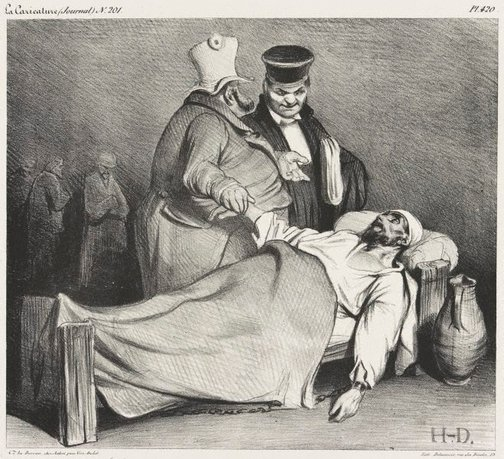 An image of You can free this one! He is no longer dangerous by Honoré Daumier