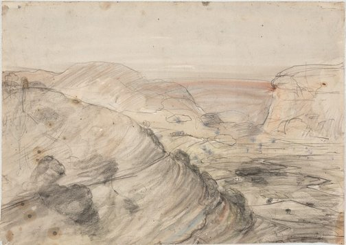 An image of The valley of Pleistos, Delphi by Lloyd Rees