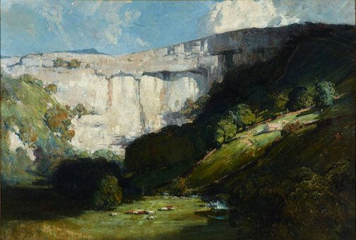 An image of Malham Cove by Arthur Streeton