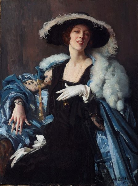 An image of The white glove by George W Lambert
