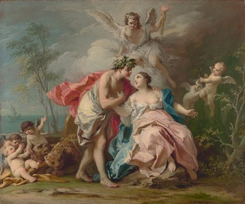 An image of Bacchus and Ariadne by Jacopo Amigoni