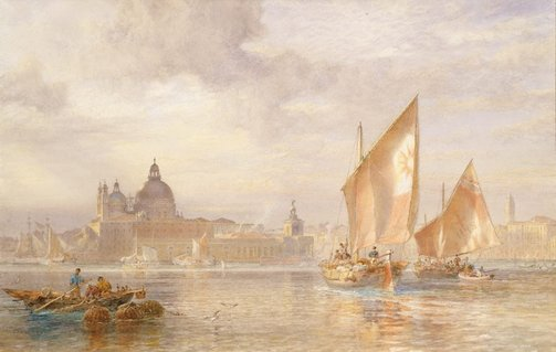 An image of Weather clearing after rain, Venice by Oswald Brierly