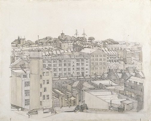 An image of Observatory Hill by Sydney Ure Smith
