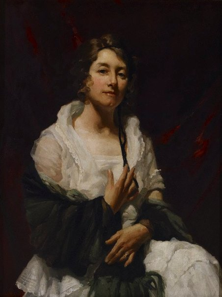 An image of Portrait study of a lady by W B McInnes