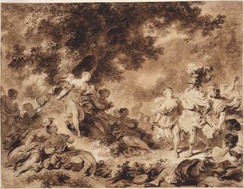 An image of Rinaldo in the gardens of Armida by Jean-Honoré Fragonard