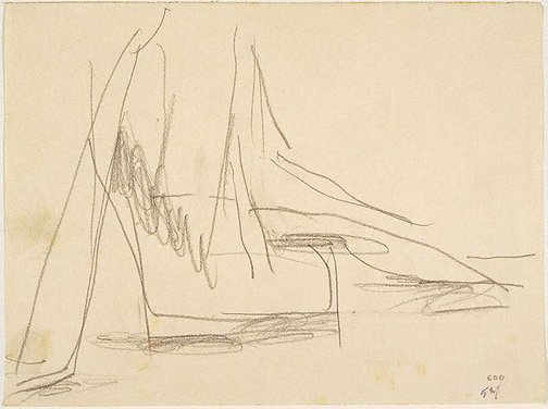 An image of recto: Reclining figure verso: Seated figure by Godfrey Miller