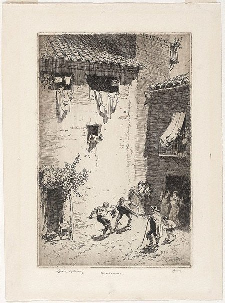 An image of Gamecocks, Spain by Lionel Lindsay