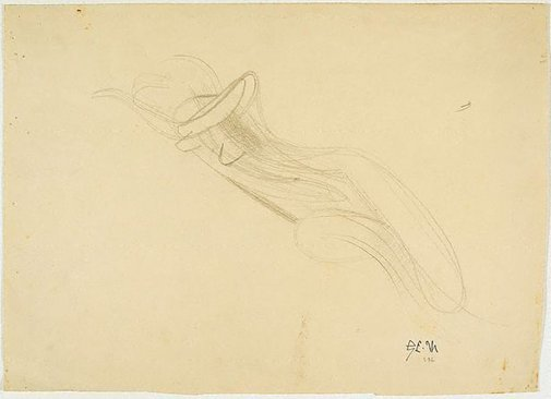 An image of recto: Reclining female figure verso: Seated female figure by Godfrey Miller