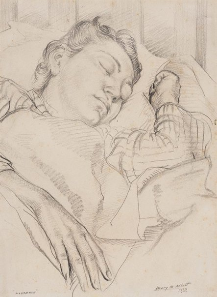 An image of Florence sleeping by Mary Abbott